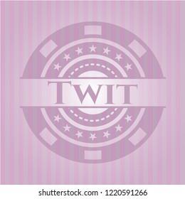 Twit pink emblem