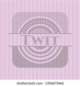 Twit realistic pink emblem