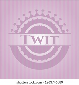 Twit retro pink emblem