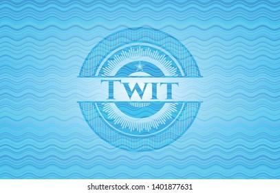 Twit water concept emblem background. Vector Illustration. Detailed.
