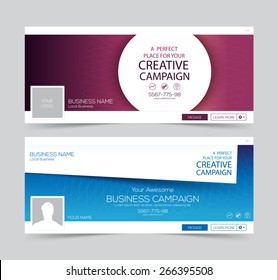 Two abstract business banner for website header.