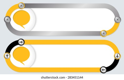 Two abstract frames for your text and speech bubble