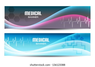 Two Abstract Medical Banners for Web or print