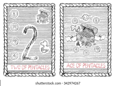 Two of Pentacles Images, Stock Photos & Vectors | Shutterstock