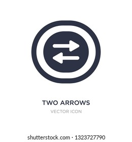 f50e06579 two arrows pointing right and left icon on white background. Simple element  illustration from UI