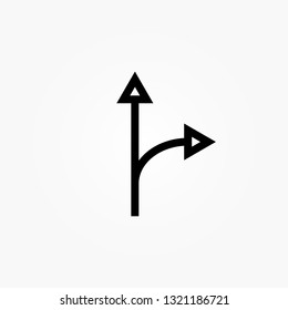 Two Arrows Splitting From One
