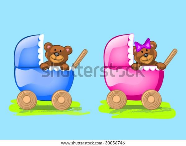 two baby bears