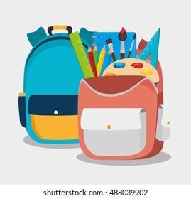 two backpack school bag design