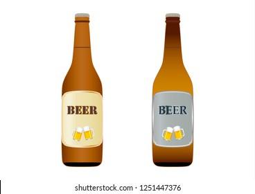 Two beer bottles