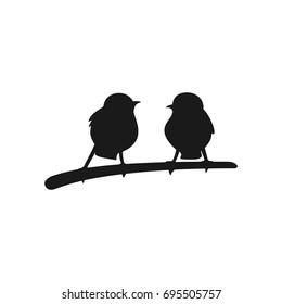 two bird vector logo.