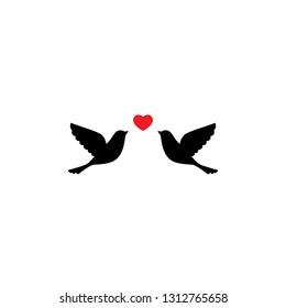 Love Birds Silhouette Images Stock Photos Vectors Shutterstock