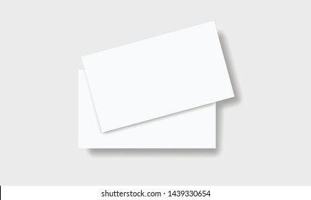 Two blank business cards mockup. Vector illustration