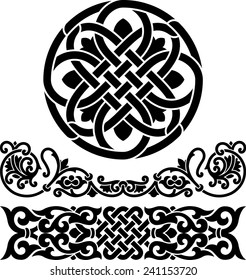 two border and circle ornament in Byzantine style