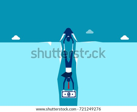 Two Buisness Person Grab Money Trap Stock Vector (Royalty Free