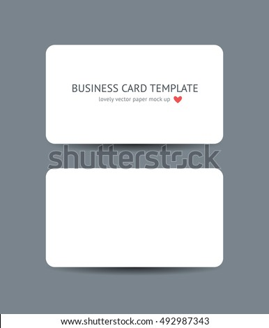 Two business cards round corners template stock vector royalty free two business cards with round corners template mockup isolated on dark gray background realistic vector wajeb Choice Image