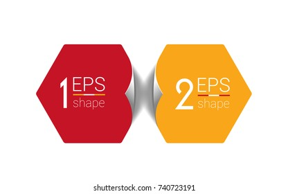 Two business elements banner. 2 steps design, chart, infographic, step by step number option, layout.