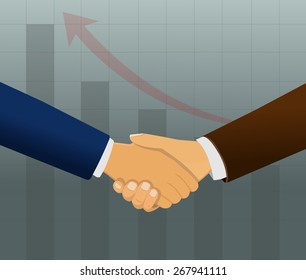Two business partners doing handshake