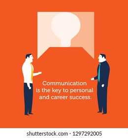 Two businessmen speaking communication concept business- vector