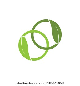 Two circle with leaf logo