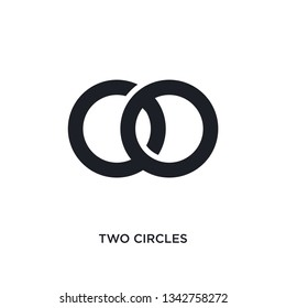 two circles isolated icon. simple element illustration from ultimate glyphicons concept icons.