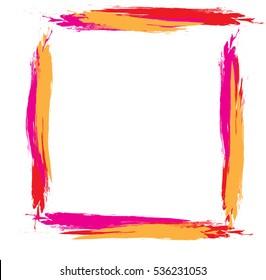 Two color brushed frame
