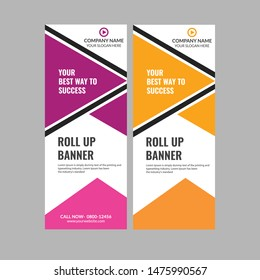 Two Color Business Roll up banner Templates