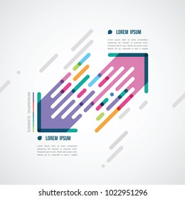 two color diagonal arrows infographics