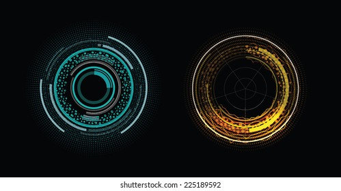 Two color elements of head-up display