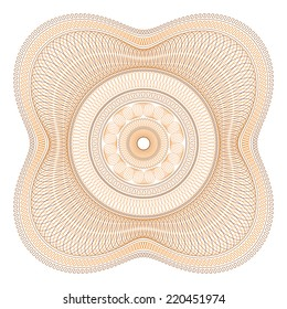 Two Color Guilloche Rosette Vector Illustration
