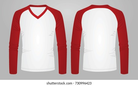 Two color long sleeve t shirt. vector illustration
