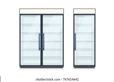 two commercial refrigerators