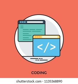 Two computer screens with coding and hypertext