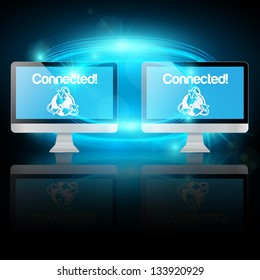 Two computers connected