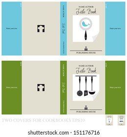 Two covers for cookbooks