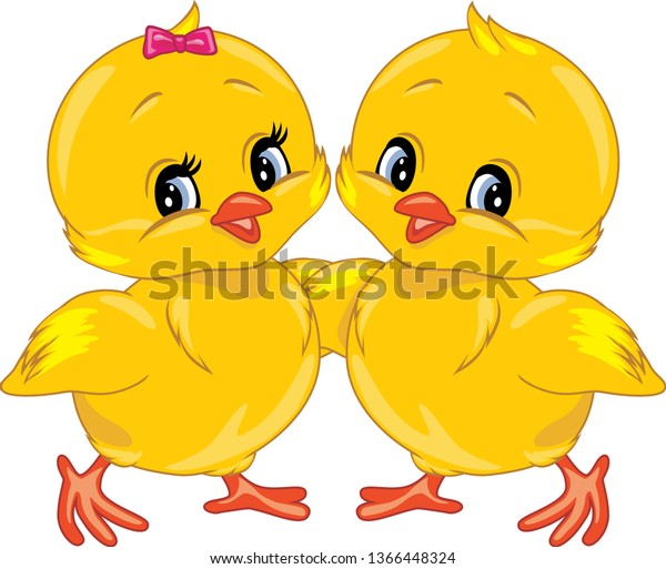 two-cute-smiling-chicks-vector-600w-1366