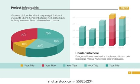 Two Data Charts Slide Template
