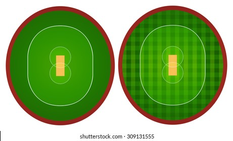 Two designs of sport court illustration
