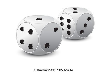 two dice lying near