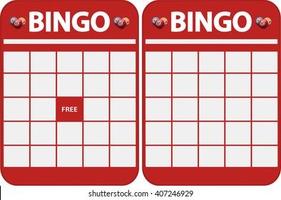 Two Different Kind Of Red Blank Bingo Cards for Cut Out