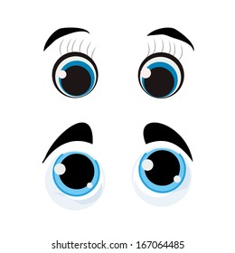 two different style of eyes with respective colors