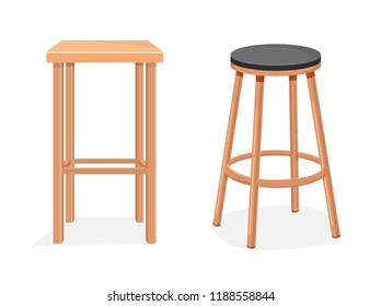 Two empty tall chairs