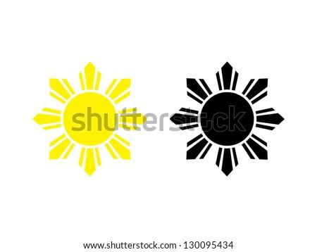 Two Filipino Sun Marks Vector de stock (libre de regalías)130095434 ...