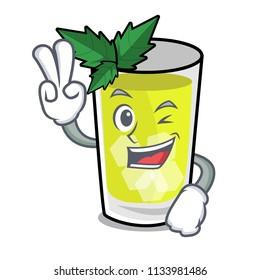 Two finger mint julep character cartoon