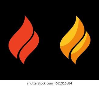 two flame logo design