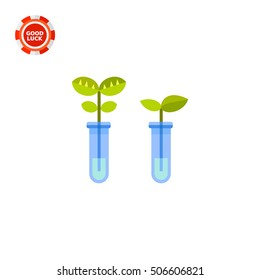 Two flasks as Biotechnology Concept Icon