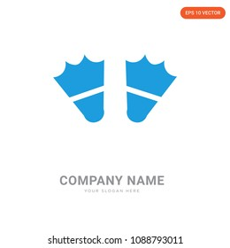 Two Flippers company logo design template, Business corporative emblem vector icon, two flippers iconic concept