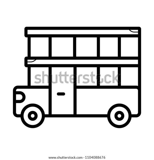 Two floor bus icon