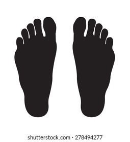 Two Footprints Silhouette.  Editable EPS10 illustration.