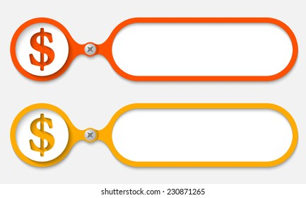 Two Frames Joined By Bolt Dollar Stock Vector 234767611 - Shutterstock