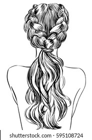 Double braid ponytail